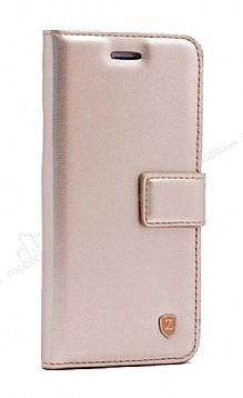 Samsung Galaxy S20 Kapaklı Cüzdanlı Gold Deri Kılıf