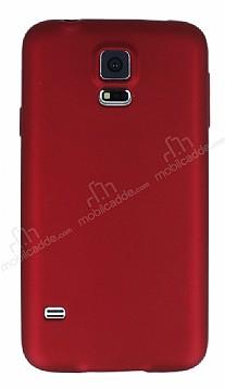 Samsung Galaxy S5 Mat Kırmızı Silikon Kılıf