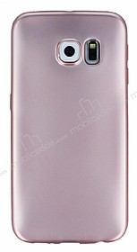 Samsung Galaxy S6 Edge Metalik Rose Gold Silikon Kılıf