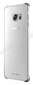 Samsung Galaxy S6 Edge Plus Orjinal Metalik Silver Kenarlı Kristal Kılıf