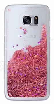 Samsung Galaxy S7 Edge Simli Sulu Rose Kırmızı Rubber Kılıf