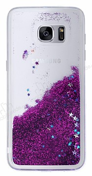 Samsung Galaxy S7 Edge Sulu Mor Rubber Kılıf