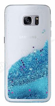 Samsung Galaxy S7 Edge Sulu Mavi Rubber Kılıf