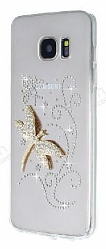 Samsung Galaxy S7 Edge Taşlı Yusufçuk Şeffaf Silikon Kılıf