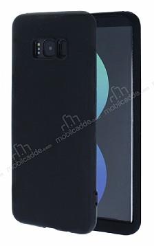 Samsung Galaxy S8 360 Derece Koruma Likit Siyah Silikon Kılıf