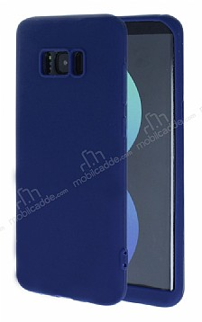 Samsung Galaxy S8 360 Derece Koruma Likit Lacivert Silikon Kılıf