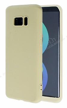 Samsung Galaxy S8 360 Derece Koruma Likit Gold Silikon Kılıf