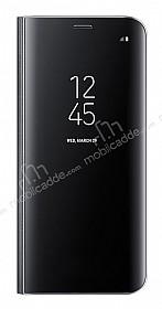 Samsung Galaxy S8 Orjinal Clear View Uyku Modlu Standlı Kapaklı Siyah Kılıf