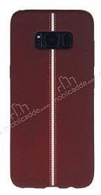 Samsung Galaxy S8 Kadife Dokulu Bordo Silikon Kılıf