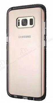 Samsung Galaxy S8 Siyah Kenarlı Şeffaf Silikon Kılıf