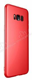 Samsung Galaxy S8 Mat Kırmızı Silikon Kılıf