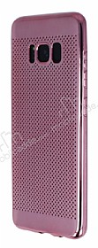 Samsung Galaxy S8 Noktalı Metalik Pembe Silikon Kılıf