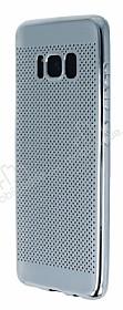 Samsung Galaxy S8 Noktalı Metalik Silver Silikon Kılıf