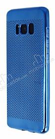 Samsung Galaxy S8 Noktalı Metalik Mavi Silikon Kılıf
