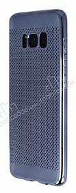 Samsung Galaxy S8 Noktalı Metalik Dark Silver Silikon Kılıf