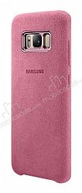 Samsung Galaxy S8 Orjinal Alcantara Süet Pembe Kılıf