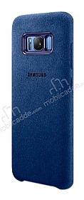Samsung Galaxy S8 Orjinal Alcantara Süet Koyu Mavi Kılıf