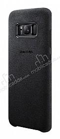 Samsung Galaxy S8 Orjinal Alcantara Süet Siyah Kılıf