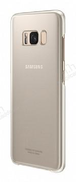 Samsung Galaxy S8 Orjinal Clear Cover Gold Rubber Kılıf