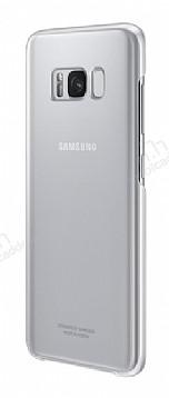 Samsung Galaxy S8 Orjinal Clear Cover Silver Rubber Kılıf