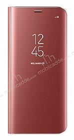 Samsung Galaxy S8 Plus Orjinal Clear View Standlı Kapaklı Pembe Kılıf