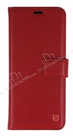 Samsung Galaxy S8 Plus Cüzdanlı Yan Kapaklı Kırmızı Deri Kılıf