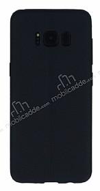 Samsung Galaxy S8 Plus Deri Desenli Ultra İnce Siyah Silikon Kılıf