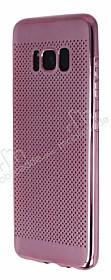 Samsung Galaxy S8 Plus Noktalı Metalik Pembe Silikon Kılıf