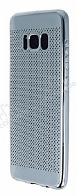 Samsung Galaxy S8 Plus Noktalı Metalik Silver Silikon Kılıf