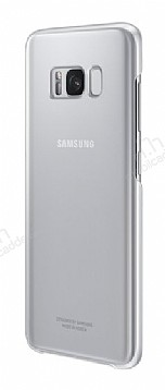 Samsung Galaxy S8 Plus Orjinal Clear Cover Silver Rubber Kılıf