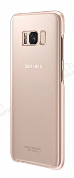 Samsung Galaxy S8 Plus Orjinal Clear Cover Pembe Rubber Kılıf