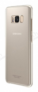 Samsung Galaxy S8 Plus Orjinal Clear Cover Gold Rubber Kılıf