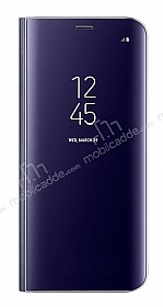 Samsung Galaxy S8 Plus Orjinal Clear View Standlı Kapaklı Lacivert Kılıf
