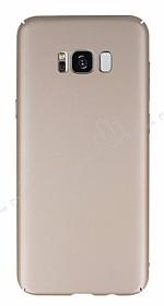 Samsung Galaxy S8 Plus Tam Kenar Koruma Gold Rubber Kılıf