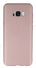 Samsung Galaxy S8 Plus Tam Kenar Koruma Rose Gold Rubber Kılıf