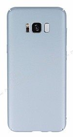 Samsung Galaxy S8 Plus Tam Kenar Koruma Silver Rubber Kılıf