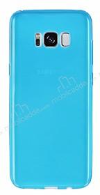 Samsung Galaxy S8 Plus Ultra İnce Şeffaf Mavi Silikon Kılıf