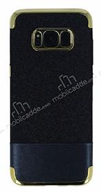 Samsung Galaxy S8 Simli Deri Siyah Silikon Kılıf