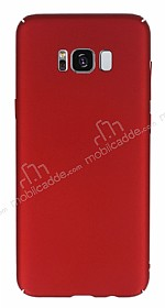 Samsung Galaxy S8 Tam Kenar Koruma Kırmızı Rubber Kılıf