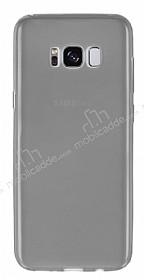 Samsung Galaxy S8 Ultra İnce Şeffaf Siyah Silikon Kılıf