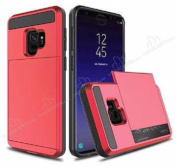 Samsung Galaxy S9 Kartlıklı Ultra Koruma Kırmızı Kılıf