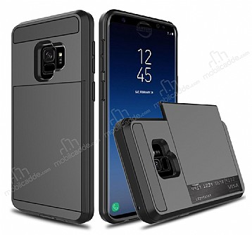 Samsung Galaxy S9 Kartlıklı Ultra Koruma Siyah Kılıf
