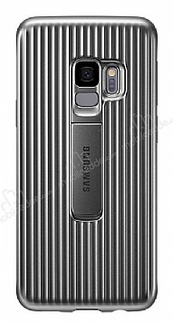Samsung Galaxy S9 Orijinal Standlı Silver Kılıf