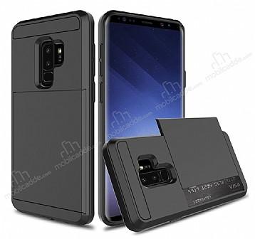 Samsung Galaxy S9 Plus Kartlıklı Ultra Koruma Siyah Kılıf