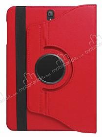 Samsung Galaxy Tab S3 9.7 T820 360 Derece Döner Standlı Kırmızı Deri Kılıf