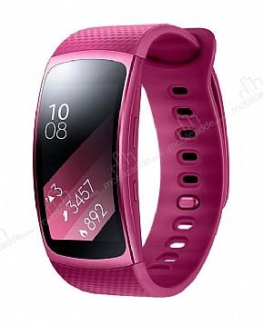 Samsung Gear Fit 2 Orijinal Pembe Akıllı Saat Büyük Kayış