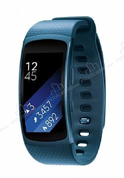 Samsung Gear Fit 2 Orijinal Mavi Akıllı Saat Büyük Kayış