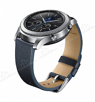 Samsung Gear S3 Orijinal Lacivert Deri Kayış ET-YSL76MNEGWW