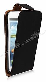 Samsung i8550 Galaxy Win Dik Kapaklı Siyah Deri Kılıf