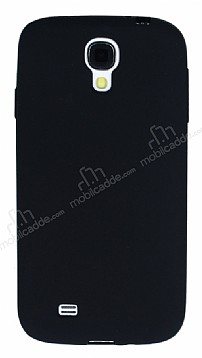 Samsung i9500 Galaxy S4 Mat Siyah Silikon Kılıf
